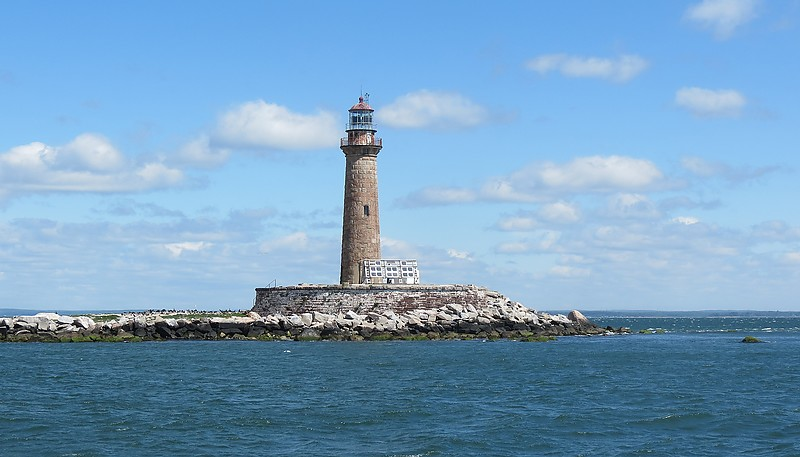 Mid Atlantic Coast Of Us New York Little Gull Island Lighthouse