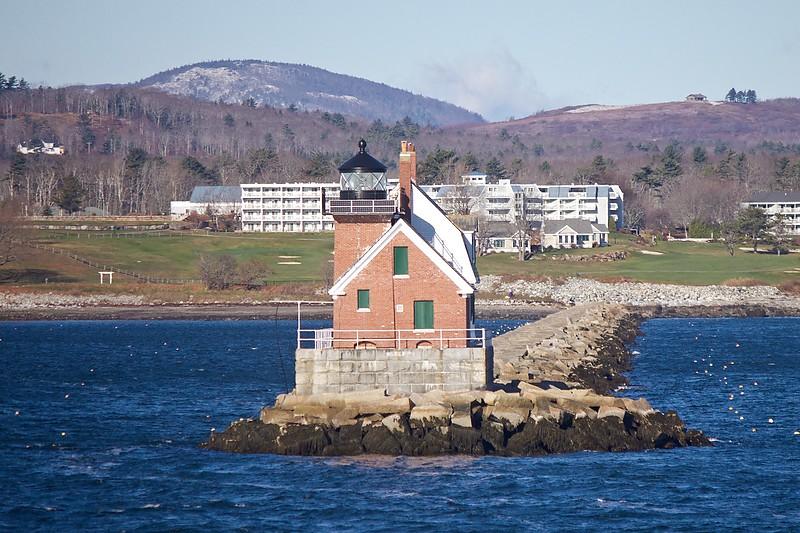 Northeast Coast Of Us Maine Rockland Harbor Breakwater