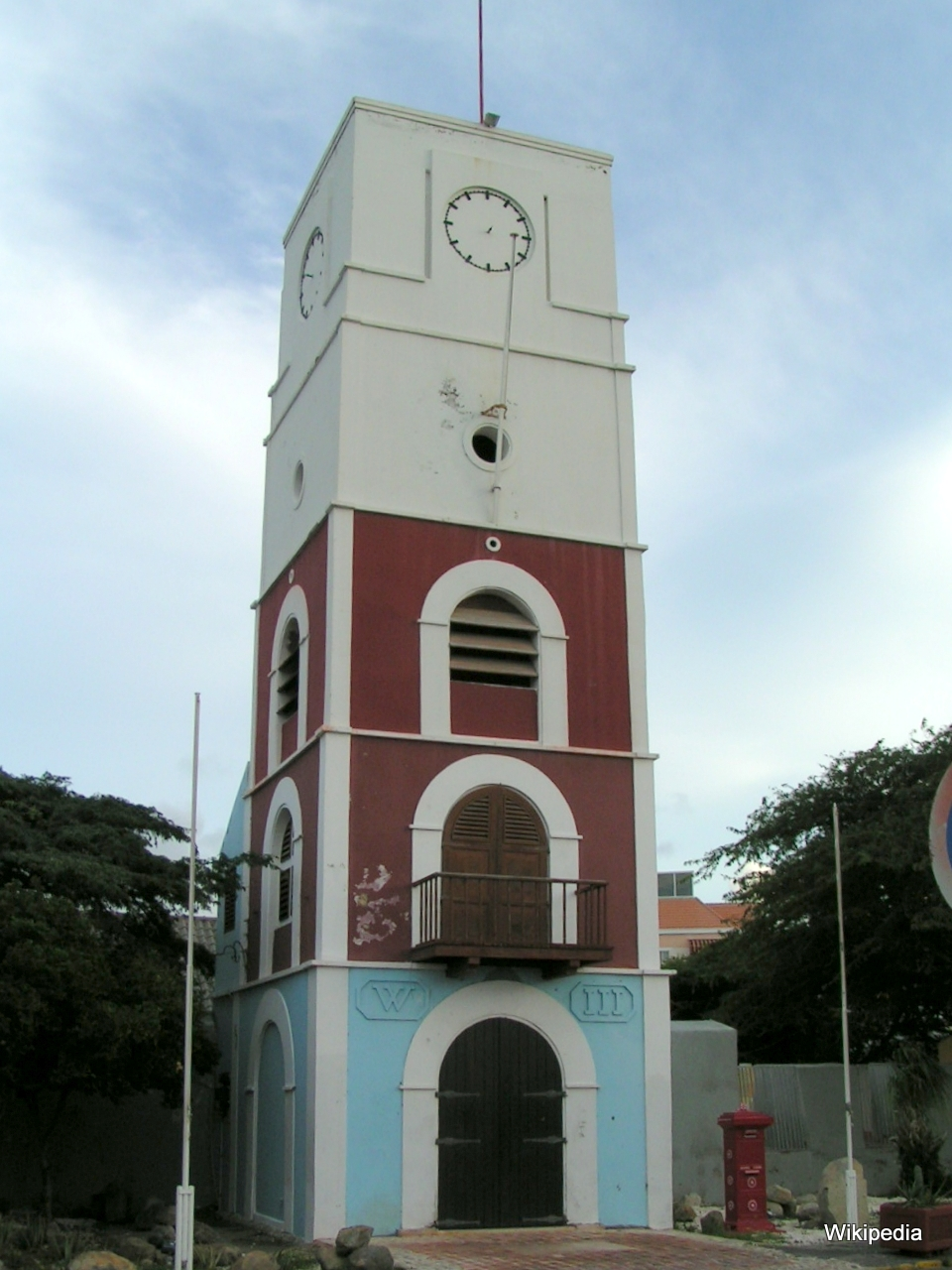 Aruba Oranjestad Fort Zoutman Willem Iii Tower