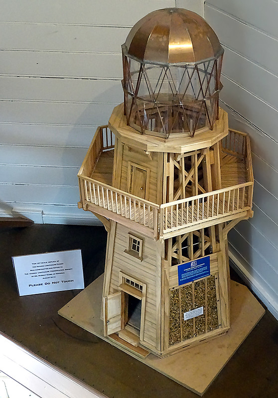 A Small Scale Replica Of The Akaroa Head Lighthouse This Is On Display Inside