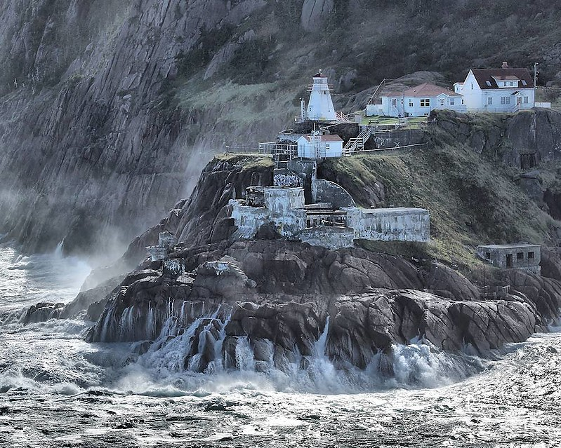 atlantic coast of canada fort amherst lighthouse st john 39 s during an october storm world. Black Bedroom Furniture Sets. Home Design Ideas